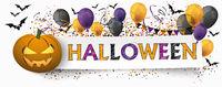 Halloween Pumpkin Paper Banner Balloons Buntings