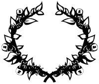 Laurel Wreath Chained Stencil