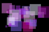 Abstract violet squares illustration background