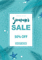 Turquoise Summer Sale Background