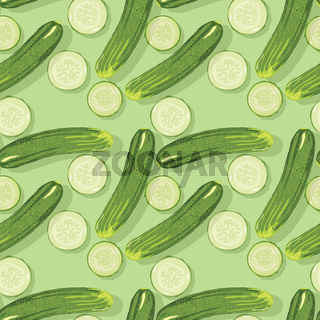 Fresh cucumbers pattern