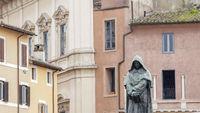 Giordano Bruno statue in Campo de Fiori, Rome, Italy