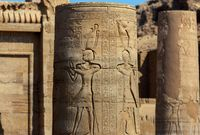 column in ancient egypt temple