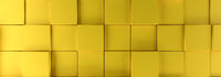 Modern yellow cubes background, 3d rendering