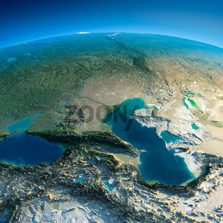Detailed Earth. Caucasus
