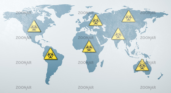 Global Pandemic Spread Concept Render Illustration