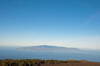 View of Gomera from Teide National Park, Tenerife, Canary Islands, Spain, Europe