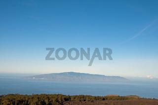 Blick auf Gomera vom Teide-Nationalpark, Teneriffa, Kanaren, Spanien, Europa