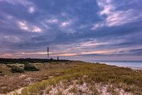 Funkturm und Leuchtturm Darßer Ort an der Ostseeküste
