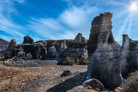 Rofera de Teseguite, eroded volcanic rock formation on Lanzarote