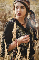 young gypsy woman