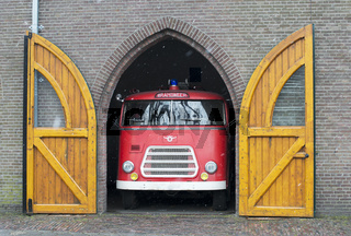 old fire truck in holland