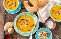 Coconut pumpkin soup