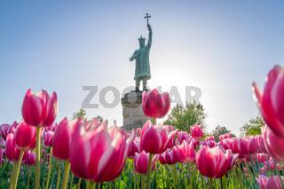Chisinau, Moldova - Stephen III of Moldavia, known as Stephen the Great statue in the center of Chisinau, Moldova. Stephen the Great monument in Chisinau, Moldova