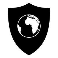 Globus und Schild - Globe and shield