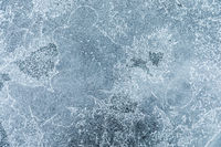 Glass covered with ice during the severe frosts