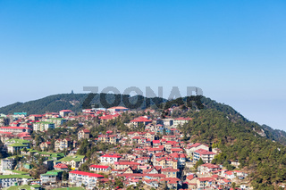aerial view of cooling town in lushan