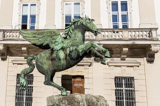 Schloss Mirabell mit Pegasusbrunnen