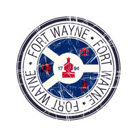 City of Fort Wayne, Indiana vector stamp
