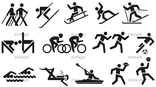 Leisure and Sports Icon Set