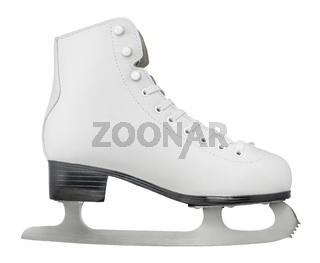 Isolated Ice Skating Boot