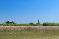 Little village at the horizon