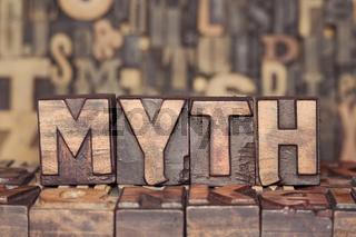 wooden MYTH concept