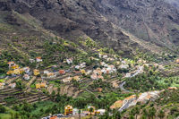 View into the Valle Gran Rey on La Gomera