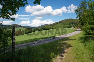 Landscape of Sauerland region close to Winterberg, Germany