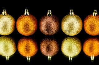 christmas decoration in orange on black