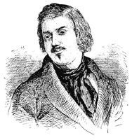 Portrait of Honore de Balzac - a French novelist and playwright. Illustration of the 19th century.