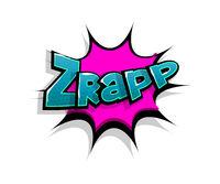 Comic text zrap, wow logo sound effects