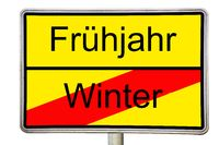 Spring Winter road signs