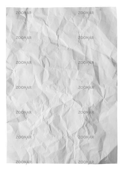 White creased paper