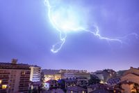 Thunderstorm in Bayonne, France
