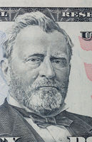 Portrait of Ulysses Grant on a 50 dollars bill