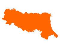 Karte von Emilia-Romagna - Map of Emilia-Romagna