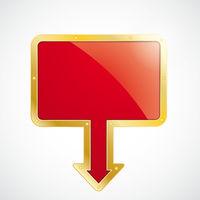 Golden Rectangle Arrow Marker Board