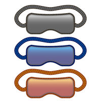 Sleep Mask Icon Set Isolated on White Background