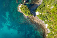 aerial view of Hahei Beach New Zealand
