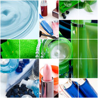 cosmetics and hygiene products as healthcare backg