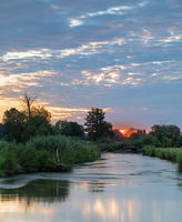 Sunrise at Paar river in Bavaria, Germany