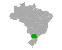 Karte von Parana in Brasilien - Map of Parana in Brazil