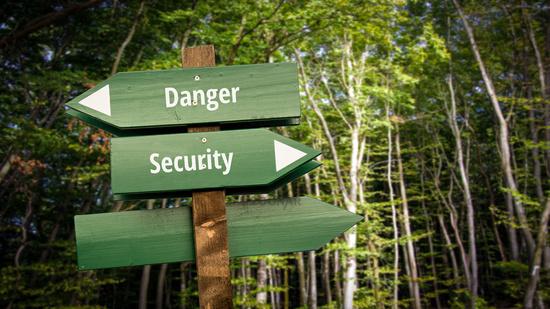 Street Sign to Security versus Danger