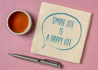 simple life is a happy life inspirational quote