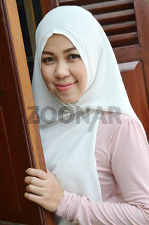 portrait of a beautiful muslim woman