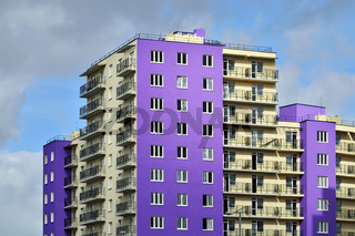 New development in district Selma. Kaliningrad, Russia