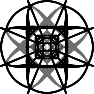 Complicated-geometrical-vector-contour-of-mandala-in-black-and-grey