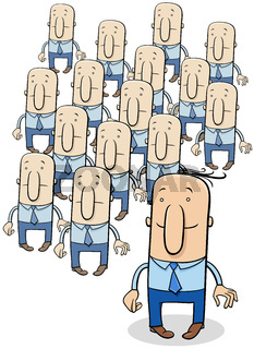 stand out from the crowd saying cartoon