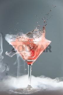 Rauchender Martini Cocktail